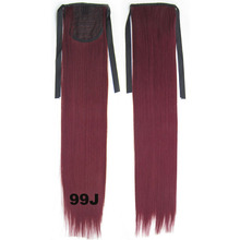 Ponytails Hair Extensions Stright 22″ 80g #99J Red Wine Burgundy Beautiful Particularly High Temperature Resistant Material