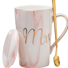 Nordic Mug Cup Coffee Ceramic Espresso Cups Marble Pink Girl Couple Cappuccino Tea Set Kubek Drinking Home 50T035