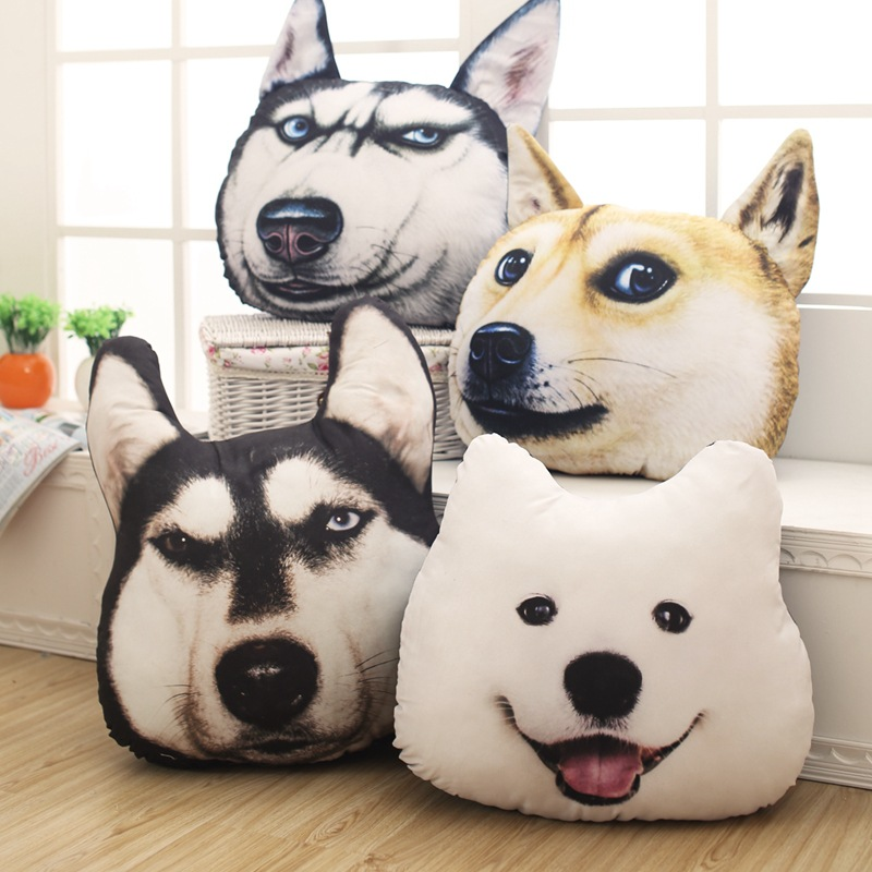 Toys & Hobbies 40cm Creative 3d Dog Pillow Doll Animal Plush Toys Dolls Stuffed Animal Pillow Sofa Car Bolster Home Decoration