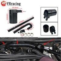Tanque de depósito de aceite de aleación de aluminio negro VR con manguera de radiador para BMW N54 335i 135i E90 E92 E82 2006 2010 VR TK56|Depósitos de combustible| |  -