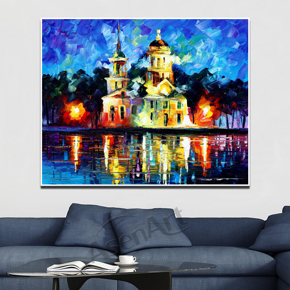 Us 4 93 53 Off Modern Beautiful Old Building Structure Print On Canvas Painting Wall Art Picture For Living Room Bedroom Wall Decor Unframed In