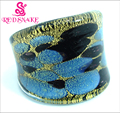 RED SNAKE Fashion Ring Handmade Blue and Black painting Murano Glass Rings