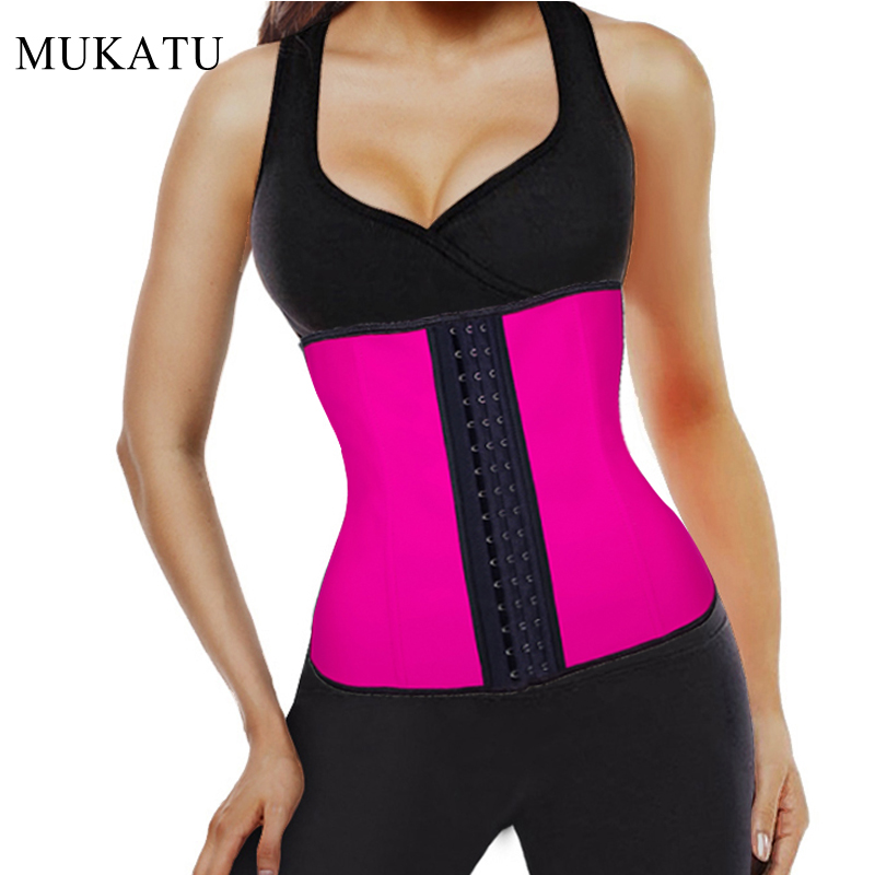 Latex Waist Trainer Plus Size Corset Slim Shaper 9 Steel Bone Corset Girdle Women Waist Belt Modeling Strap Shapewear
