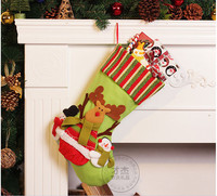 New Personalized Christmas Stockings Xmas Gift Bag For Candy New Year Home Party Ornament