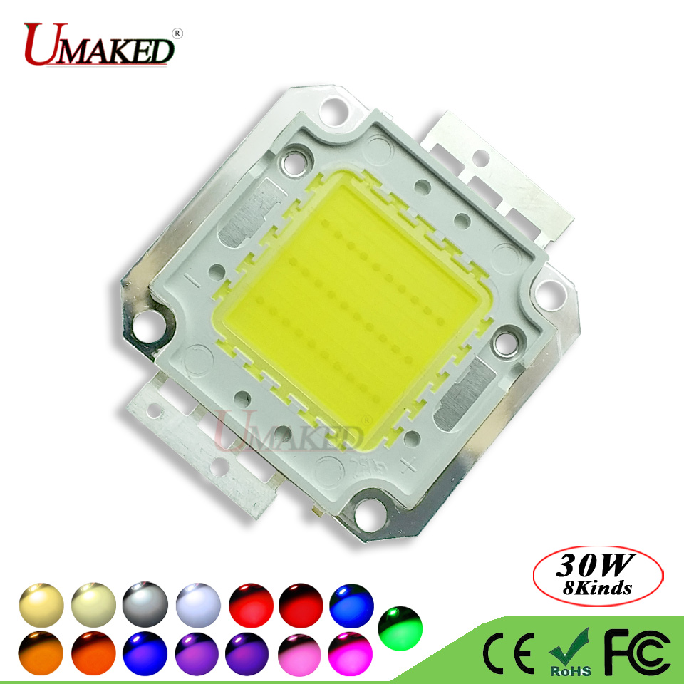 UMAKED High Power COB Diode 30W LED Chip SMD 30Mil Genesis Photonics Light chips Warm/Natrual/White/Cool For led Bulb Spotlights