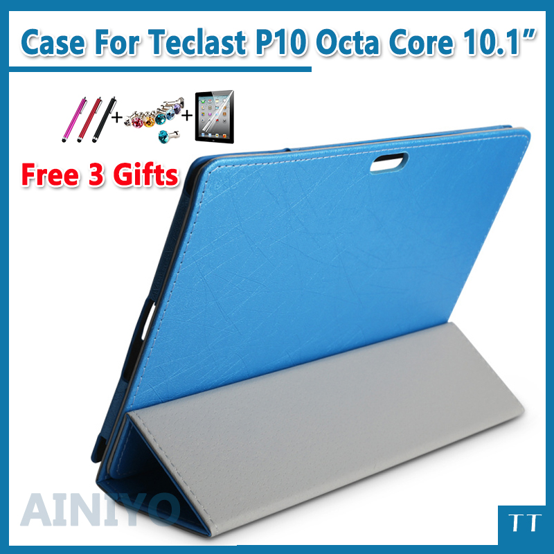 For Teclast P10 Octa Core case High quality Stand Pu Leather Case for Teclast P10 Octa Core case 10.1 + Screen Protector gifts kinston i love you patterned pu leather full body case w stand for motorola moto g black red