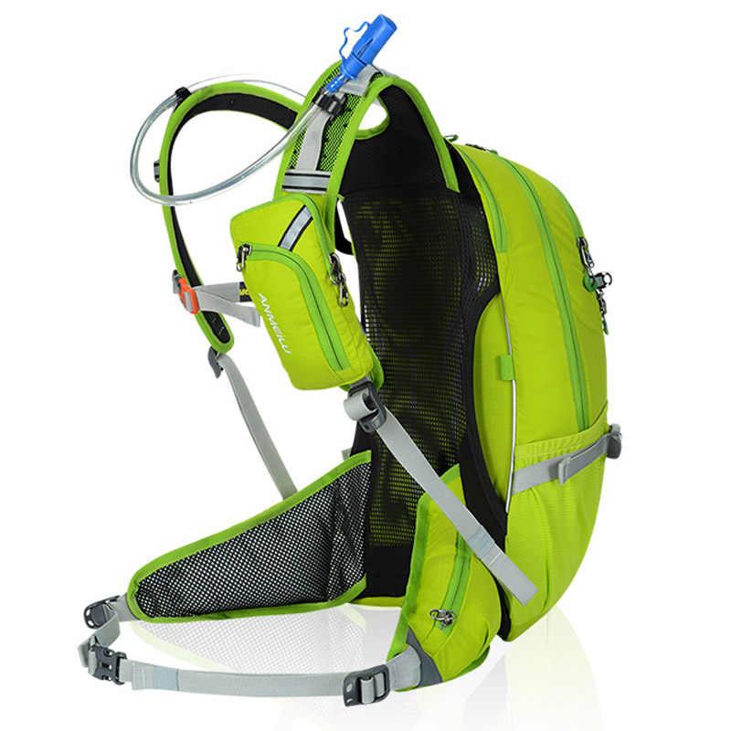 Anmeilu 20L Sepeda Tas Ransel Moutain Mendaki Pendakian Tas Sepeda Ransel dengan Rain Cover tahan Air Bersepeda Ransel Tidak Ada Air Tas
