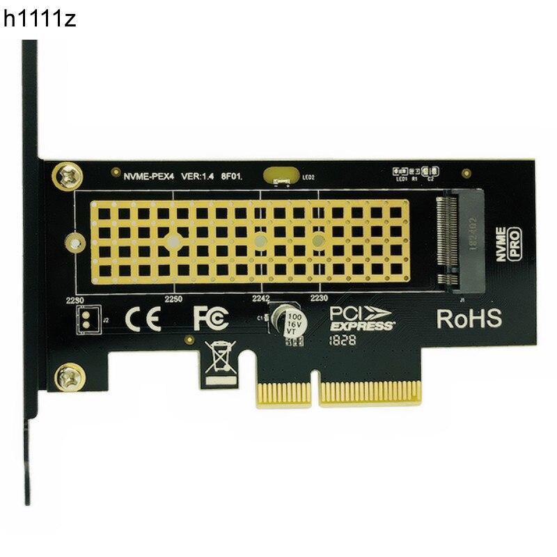 M.2 NVMe SSD NGFF PCIE X4 adaptateur M Clé interface carte Suppor PCI Express 3.0x4 2230- 2280 Taille m.2 PLEINE VITESSE bonne NOUVELLE Vente