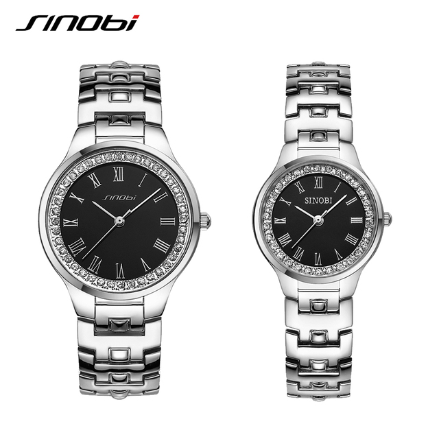 c7eaefc962a9 SINOBI Watch For Lovers Casual Outdoor Black Women And Men Watches Luxury  Brand Quartz Movement Top