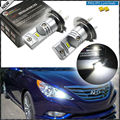 6000K Powered By Philips Luxen LED H7 LED Bulbs For Hyundai Genesis Sonata Veloster Accent on High Beam Daytime Running Lights