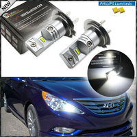 6000K Powered By Philips Luxen LED H7 LED Bulbs For Hyundai Genesis Sonata Veloster Accent On
