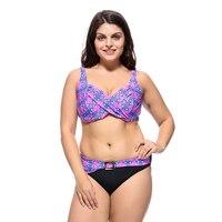 Bikini set 2019 Push Up high waist bikini Tankini Swimwear ladies swimsuit sexy large size swimsuit 3XL 7XL