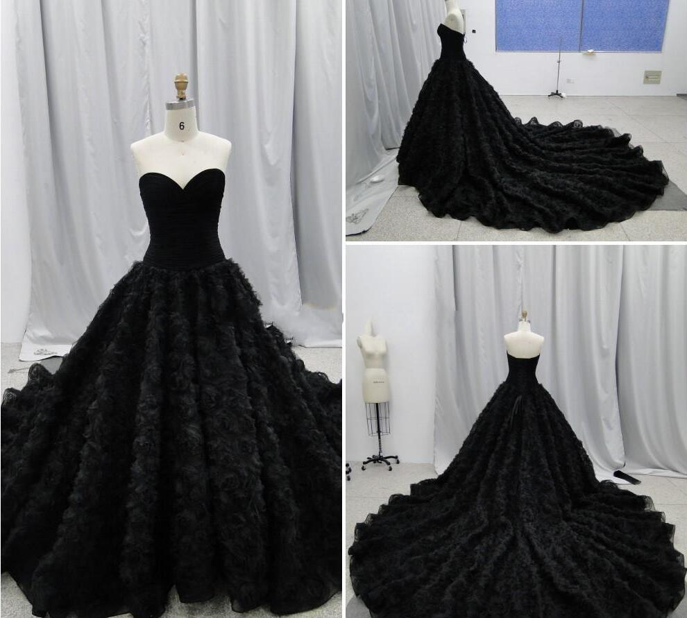 2017 Gothic Wedding Dresses Halloween Victorian Bridal: 2017 Chich Gothic Wedding Dresses Ball Gowns Sweetheart