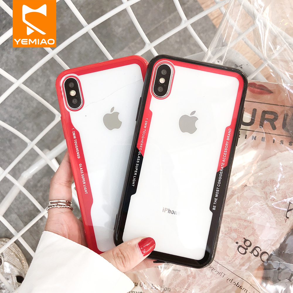 Hard PC Silicone Case For Redmi 5 5Plus 6 6Pro Note 4X 4 5Pro Clear Cover For Xiaomi 8 Lite 8SE Pocophone 1 A1 A2 MIX 2s Case in Fitted Cases from Cellphones Telecommunications