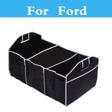Portable Car Organizer 3 Sections Trunk Back Storage Box For Ford Fiesta Fiesta ST Five Hundred Flex Focus RS Focus ST Freestyle