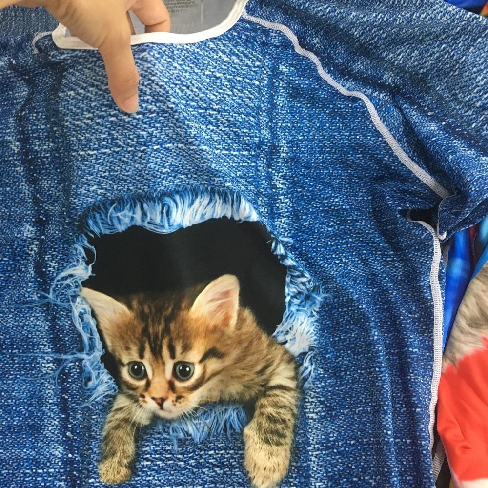 women cute cat print t shirt