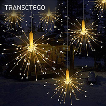 LED Firework String Lights Christmas Waterproof Starburst Copper Wire Led Lamp For Home Garden Party DIY Decoration Fairy Light