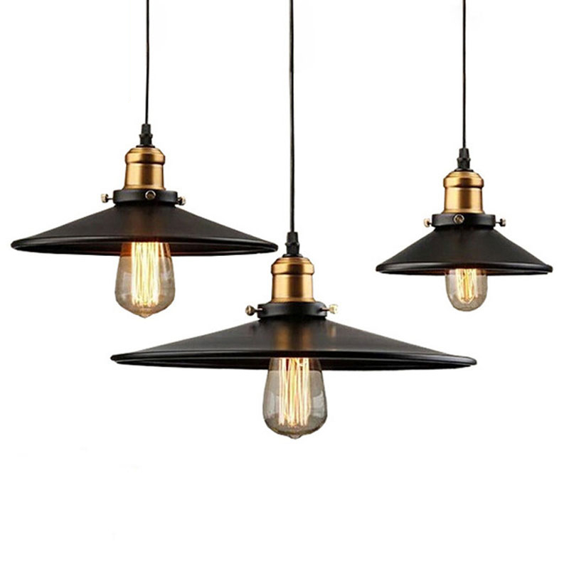 Loft RH Industrial Warehouse Pendant Lights American Country Lamps Vintage Lighting for Restaurant/Bedroom Home Decoration BlackLoft RH Industrial Warehouse Pendant Lights American Country Lamps Vintage Lighting for Restaurant/Bedroom Home Decoration Black