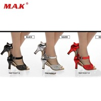 Одна пара 1/6 масштаб Яркие Кожаные сандалии на высоком каблуке обувь на высоком каблуке для женщин фигурку горячие игрушки PH JIAODOLL аксессуар