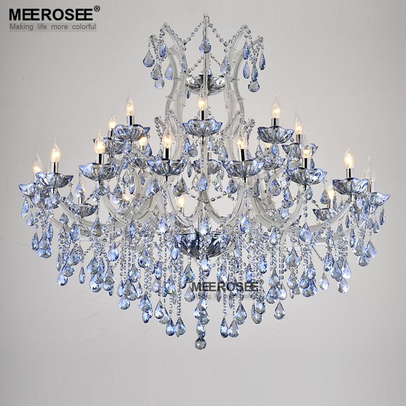 Niebieski Kolor Maria Theresa Kryształowy Żyrandol Lampa / - Oświetlenie wewnętrzne - Zdjęcie 4