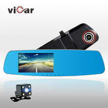 5″ inch automotive digicam rearview mirror auto dvrs automobiles dvr twin lens recorder video sprint cam full hd1080p evening imaginative and prescient