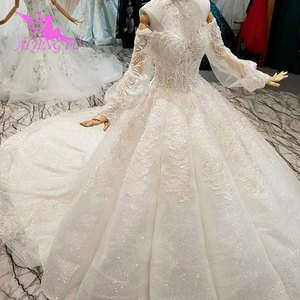 Image 3 - AIJINGYU This SeasonS Wedding Dresses Luxury Dubai Dress Hand Embroidery Designs Gowns Gown Bridal