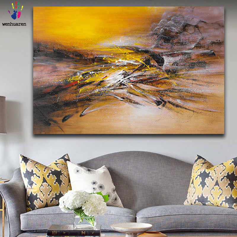 DIY colorings pictures by numbers with colors abstract Zao Wou-Ki Abstract art picture drawing painting by numbers framed Home
