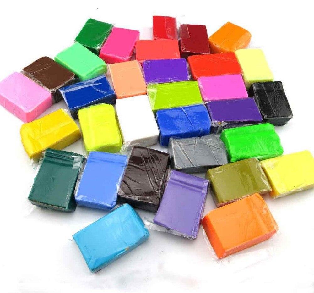 32 renkler Çocuk yumuşak fimo fırında kil öğrenme ve eğitim oyuncak/Çocuk Çocuk oyun hamuru polimer kil modelleme, Ücretsiz kargo