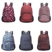 Portable Foldable Travel Backpacks Mochila Feminina Soild Nylon Back Pack Daily Traveling Women Backpack Shoulder Bag School Bag