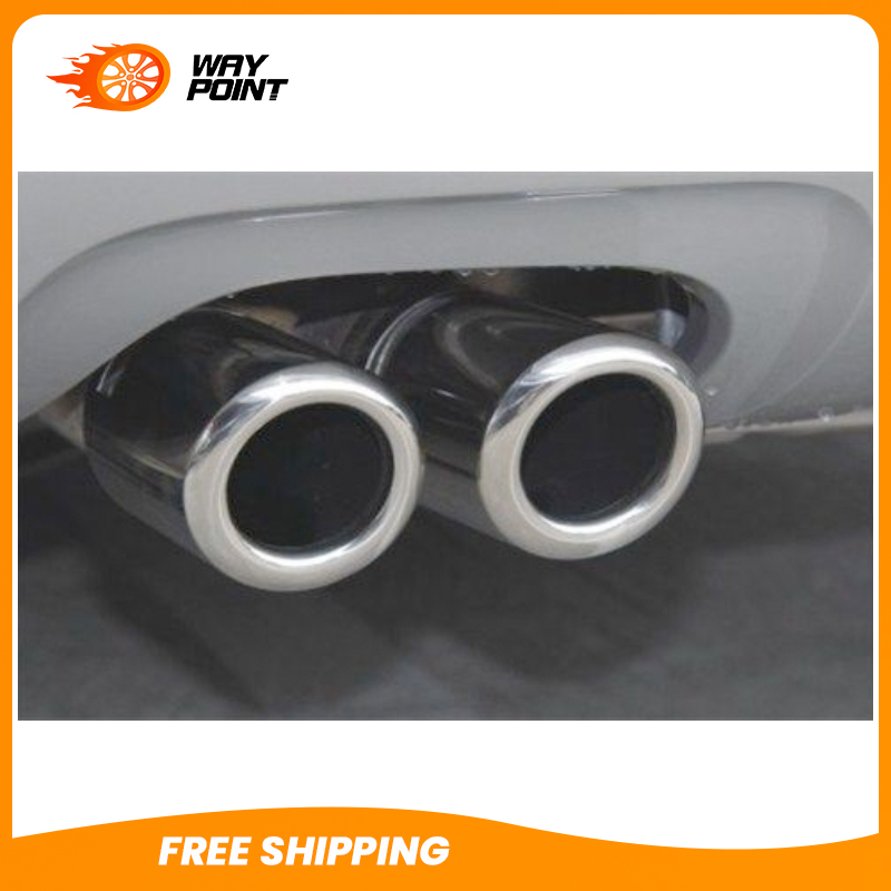 CHROME EXHAUST MUFFLER TIP PIPE For Audi A4 B8 Sedan Q5 2 0T 2009 2012