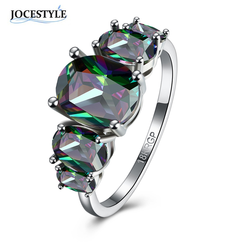 Czech Crystal Ring for Women Black Zircon Symmetrical Size Wedding Engagement Ring Plus Size Cocktail Party Index Finger Ring