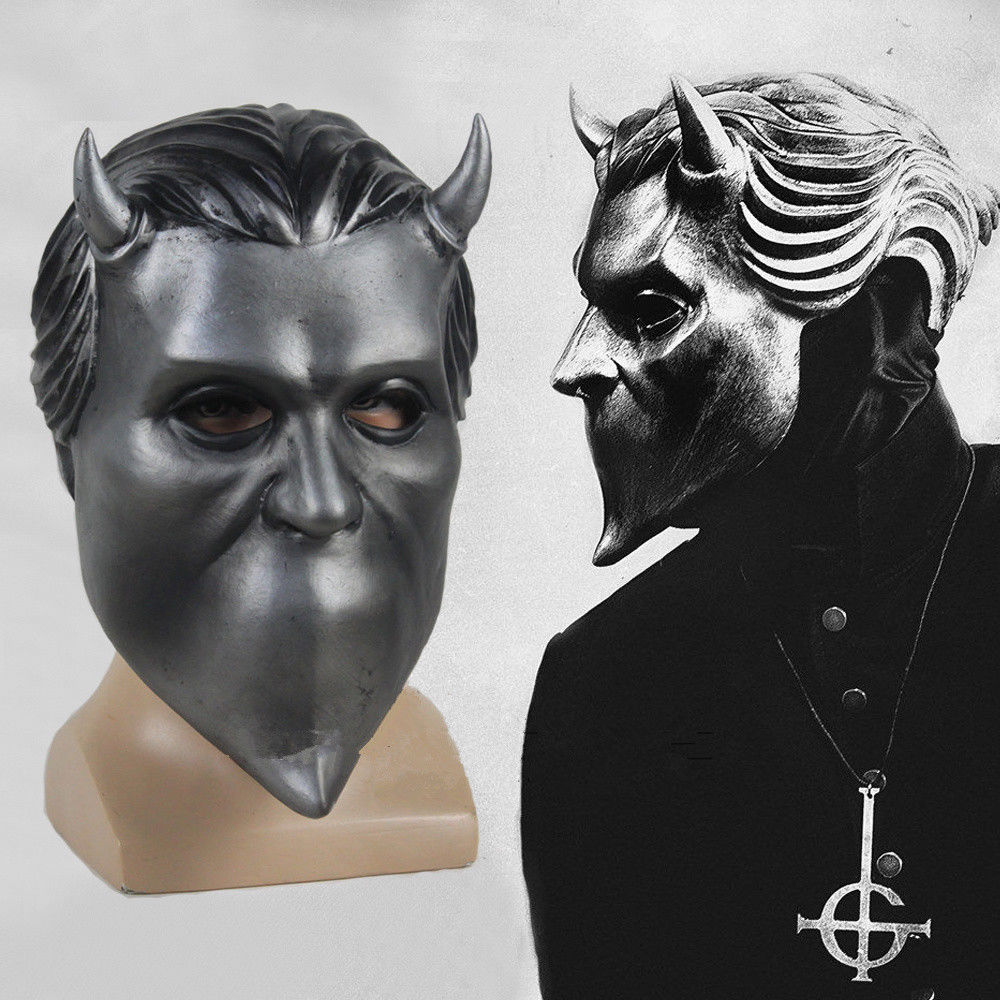 Ghost B.C Rock Roll Band Cosplay Mask Nameless Ghoul Costume Props Helmet Fashion Masquerade Adult