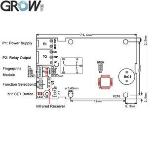 Image 4 - Система контроля доступа и распознавания отпечатков пальцев GROW K216 + R300 емкостный датчик отпечатков пальцев