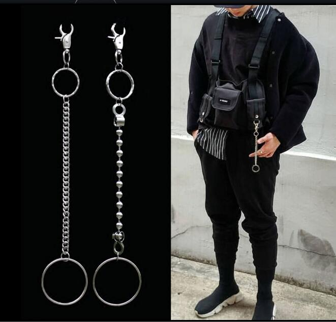 Cool Trousers Wallet Key Chain Motorcyle Jean Gothic Rock Keychain Men s metal waist hanging pants