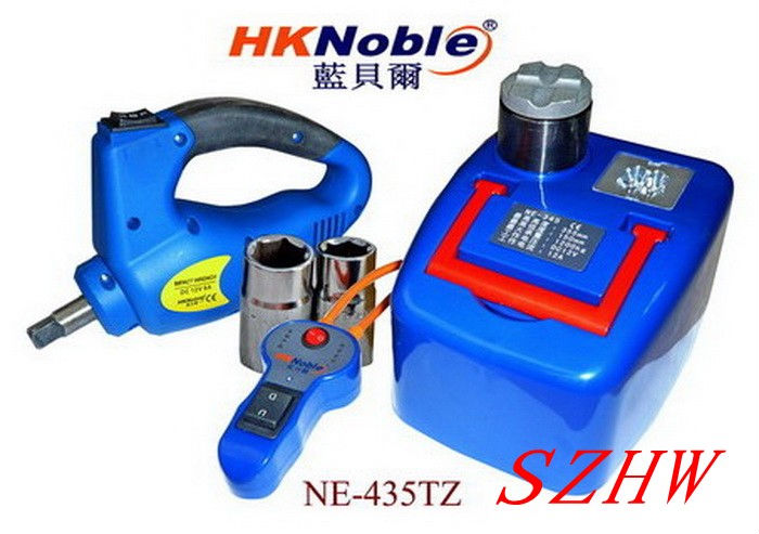HKnoble Car Hydraulic Jack With LED Light + Electric Wrench, Max top-heavy 1200KG Min/Max Height:170/410MM, 350N.m Max Torque