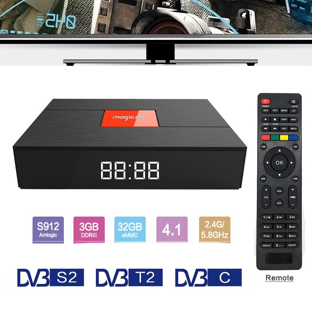 Magicsee C400 Plus Amlogic S912 3GB 32GB Android 7.1.2 4K Smart TV Box DVB S2 DVB T2 DVB C Dual WiFi pk MECOOL KIII Pro