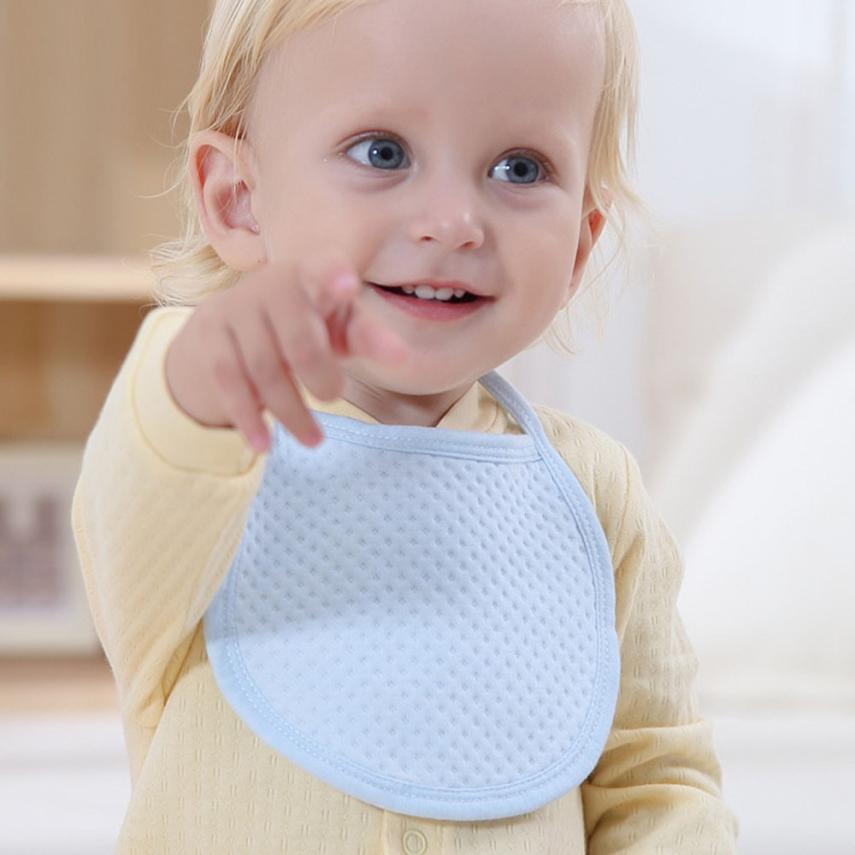 BMF TELOTUNY Fashion Baby Newborn Infants Kids Toddler Solid Soft Cotton Waterproof Bibs Saliva Towel Apr7 Drop Ship