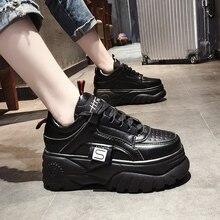 new spring 2019 net red womens shoes Harajuku platform thick bottom leisure high ins  Vulcanize sneakers Yasilaiya
