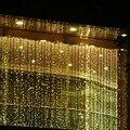 3 M x 3 M 300 LED Sincelo Cortina Da Janela Ao Ar Livre Luzes De Natal Luzes Cordas de Fadas Do Casamento Festa Em Casa de Jardim decorações