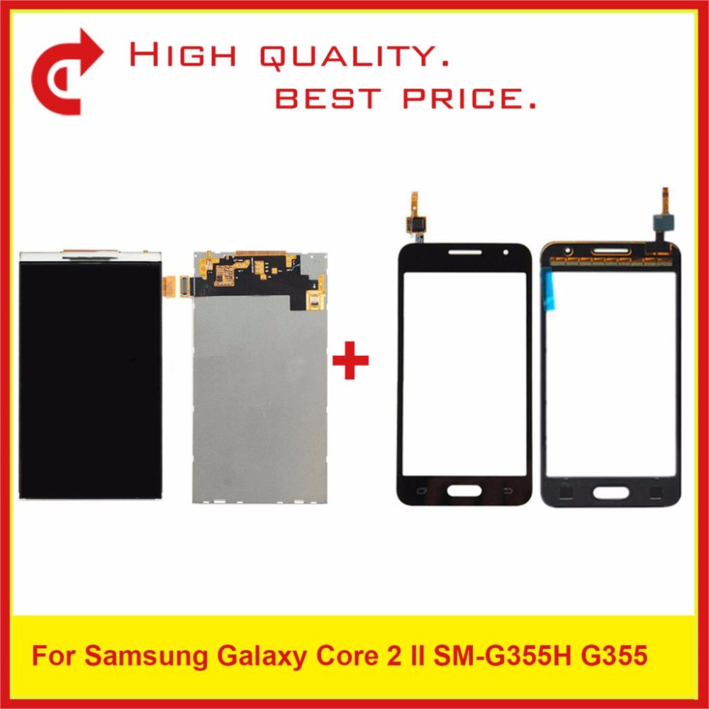 "4.5"" For Samsung DUOS Core 2 SM G355H G355M G355H G355 Lcd Display With Touch Screen Digitizer Sensor Panel Pantalla Monitor-in Mobile Phone LCD Screens from Cellphones & Telecommunications"