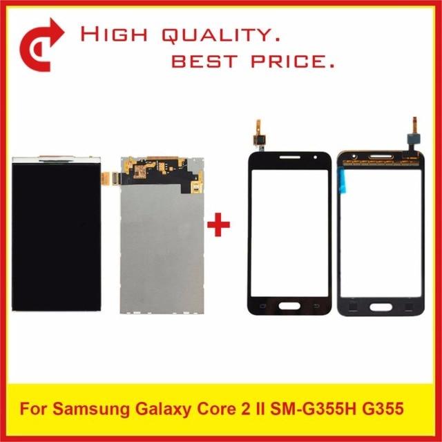 """4.5 """"Per Samsung DUOS Core 2 SM G355H G355M G355H G355 Display Lcd Con Touch Screen Digitizer Pannello Del Sensore Pantalla monitor"""