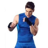 Kompression Bodybuilding-trägershirt Männer Marke Strumpfhosen Sleeveless Fitness T Shirts Quick Dry Herren Muskel Im Sonderangebot Stringer Weste
