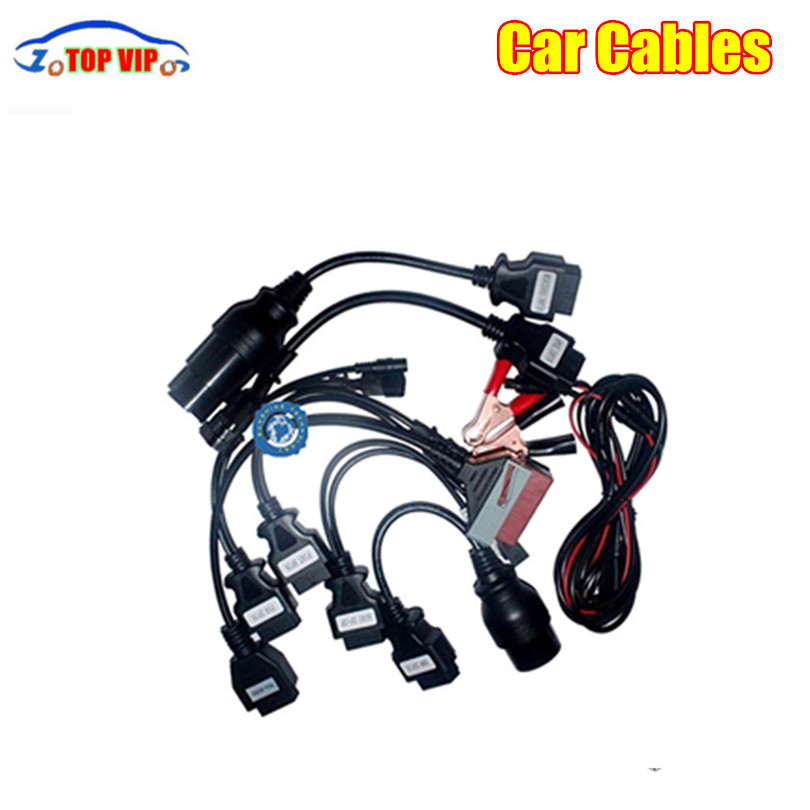 Connectors Cables Car-Adapters Diagnostic Priced OBD2 Full-Set for Many-Cars 8pcs Reasonably title=