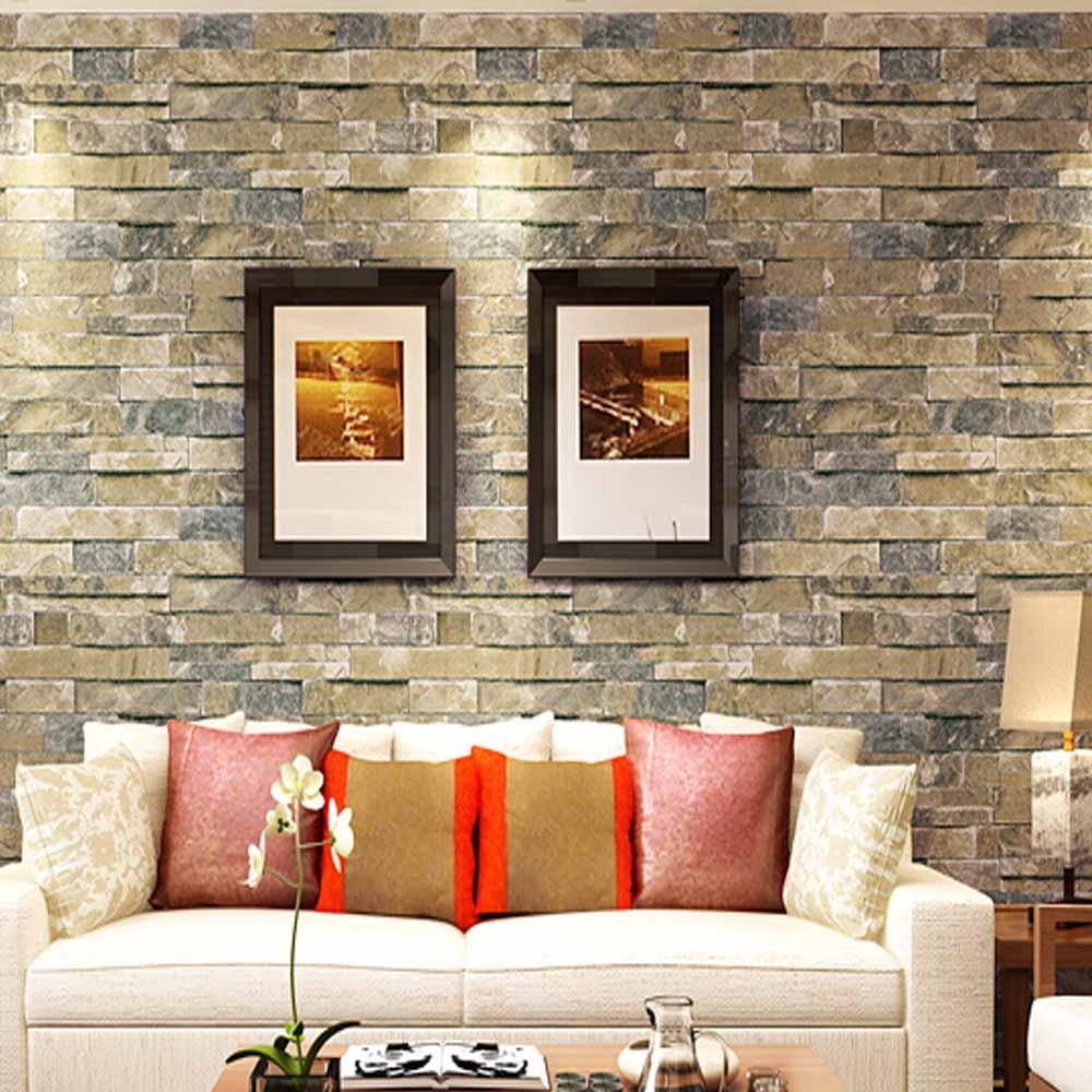 3D Brick Stone Wallpaper Vintage Vinyl Wall Papers Home Decor