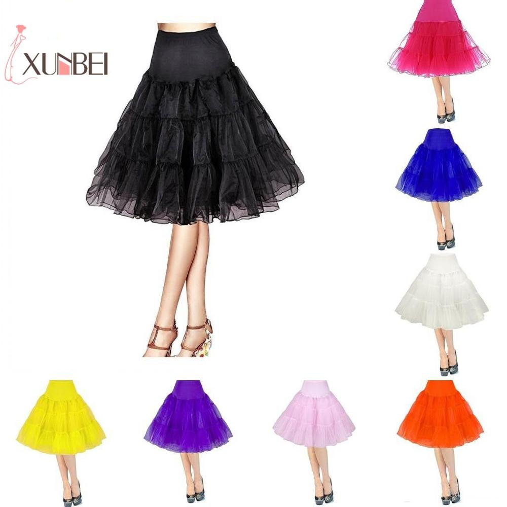 In Stock Women's 50s Vintage Tutu Skirts Rockabilly Short Petticoats 25