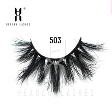 OutTop Eyelashes 1 pairs False Eyelash 25mm 3D Mink Makeup With Long HEXUAN LASHES