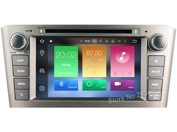 FOR TOYOTA AVENSIS 2005 2007 Android 8 0 font b Car b font DVD player Octa