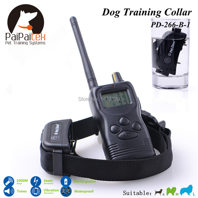 1000M Range Electric Dog Training Collar Shock+Vibra+Electric With LCD Pet Collar Rechargeable and Waterproof No Bark Collar