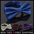 Мода Корея стиль Сплошной цвет лук Галстук для мужчин Самостоятельная Bow галстук горячей продажи 19 цветов заказ Смешивания мешок упаковка Бесплатно доставка