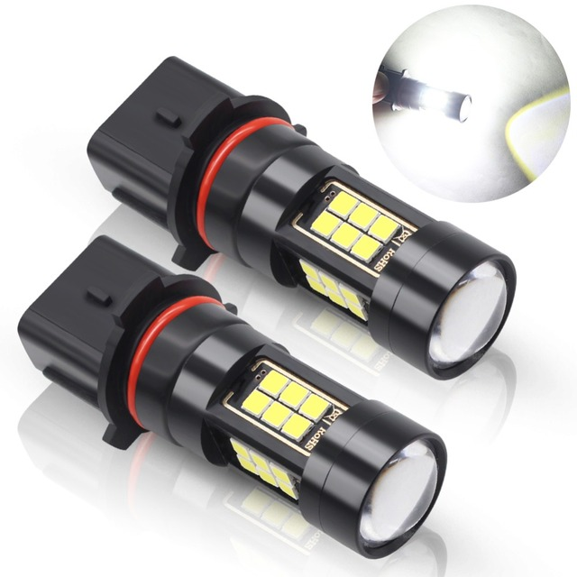 2pcs PSX26W LED Bulbs Car Fog Lights 27 Chips 3030 SMD LED 12V White Auto Fog Lights For Car Fog Lamp DRL Daytime Running Lamp